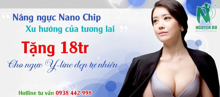 nâng ngực nano chip tặng 18tr còn 57tr